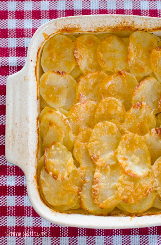 Slimming Eats Potato Gratin - gluten free, vegetarian, Slimming World and Weight Watchers friendly
