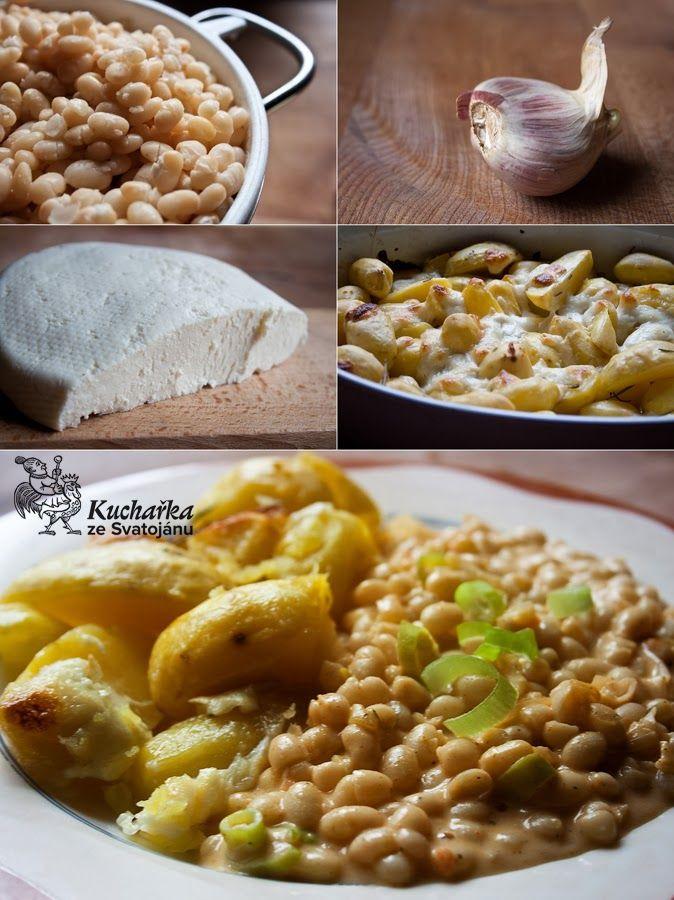 Kuchařka ze Svatojánu: FAZOLE NA PAPRICE S PEČENÝMI BRAMBORY