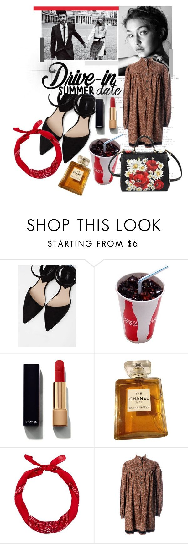 """Summer Date"" by karimaputri on Polyvore featuring MANGO, Chanel, New Look, Yves Saint Laurent, Dolce&Gabbana, DateNight, drivein and summerdate"