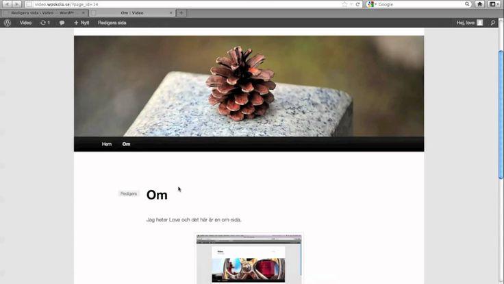 Skapa sidor i Wordpress - Webbstjärnans guide