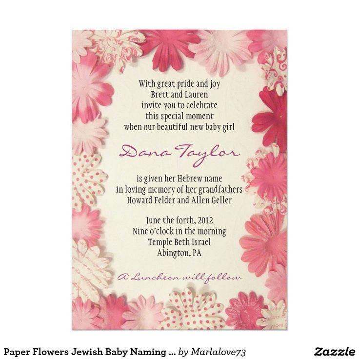 18 best Jewish Baby Naming Invitations images on Pinterest   Bat ...