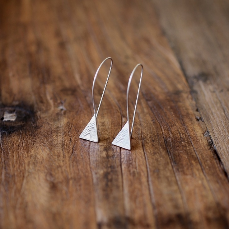 Abby Seymour — Silver mountain drop earrings $170