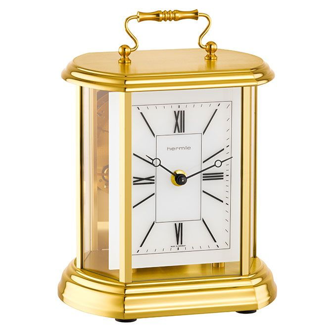 Hermle CATHERINE Mantel Clock 23007-000130 - Classic Design - Mechanical 8-day, 1/2 hour bell strike movement with back winding.