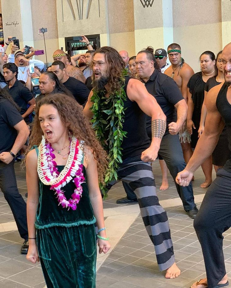 Jason Momoa With His Daughter Lola Iolani And His Fellow