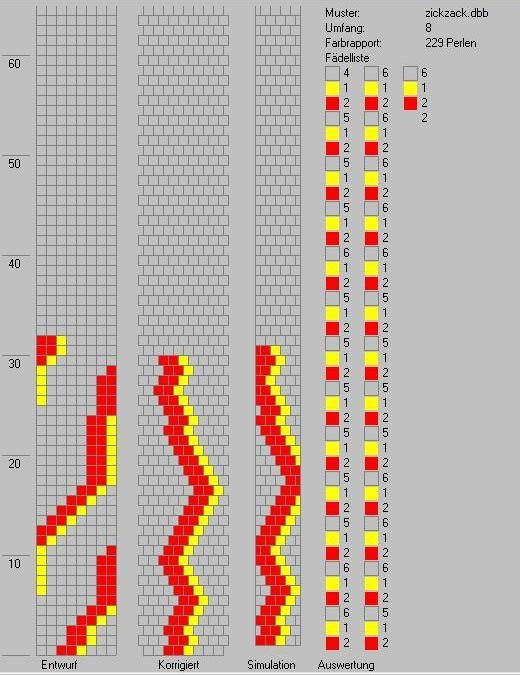 Schlauchketten häkeln - Musterbibliothek: zickzack