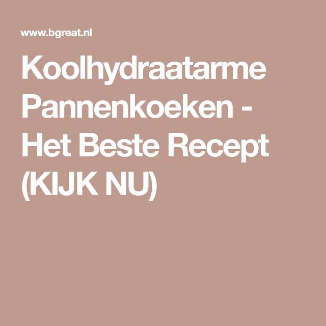 Koolhydraatarme Pannenkoeken - Het Beste Recept (KIJK NU)