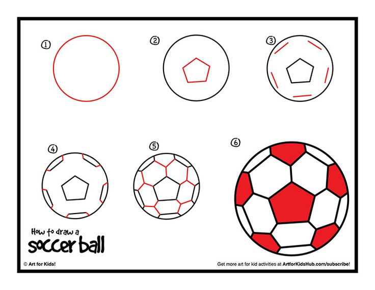 How to draw a soccer ball!