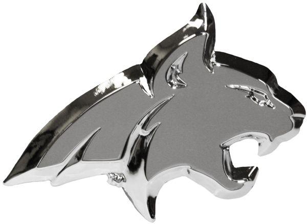 "Auto Emblem, MSU Bobcats, 3.5"" x 2"""