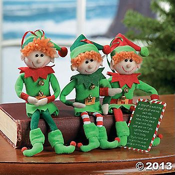 Plush Elf Ornaments | Jubilee Christmas tree decorations | Pinterest