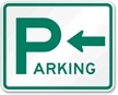 Parking Sign (arrow pointing left) free PDF download.