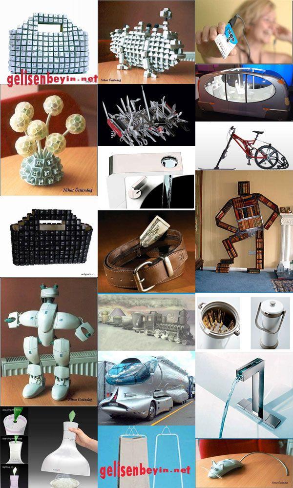 Atık maddelerden tasarımlar...