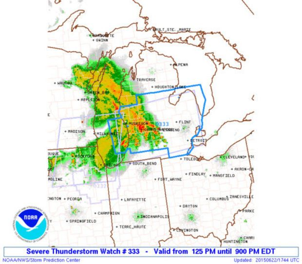 Severe thunderstorm watch blankets Lower Michigan with damaging ...