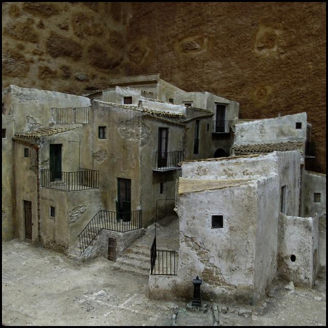 A presepe (traditional nativity scene) model, Agrigento, Sicily