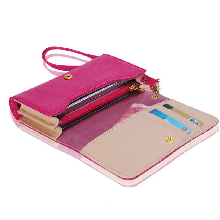 2015 женщин зажим для денег кошелек многофункциональный клатч кожа телефон чехол для iPhone 4 / 4S / 5 для Samsung S2 S3 PB702 * 35 купить на AliExpress