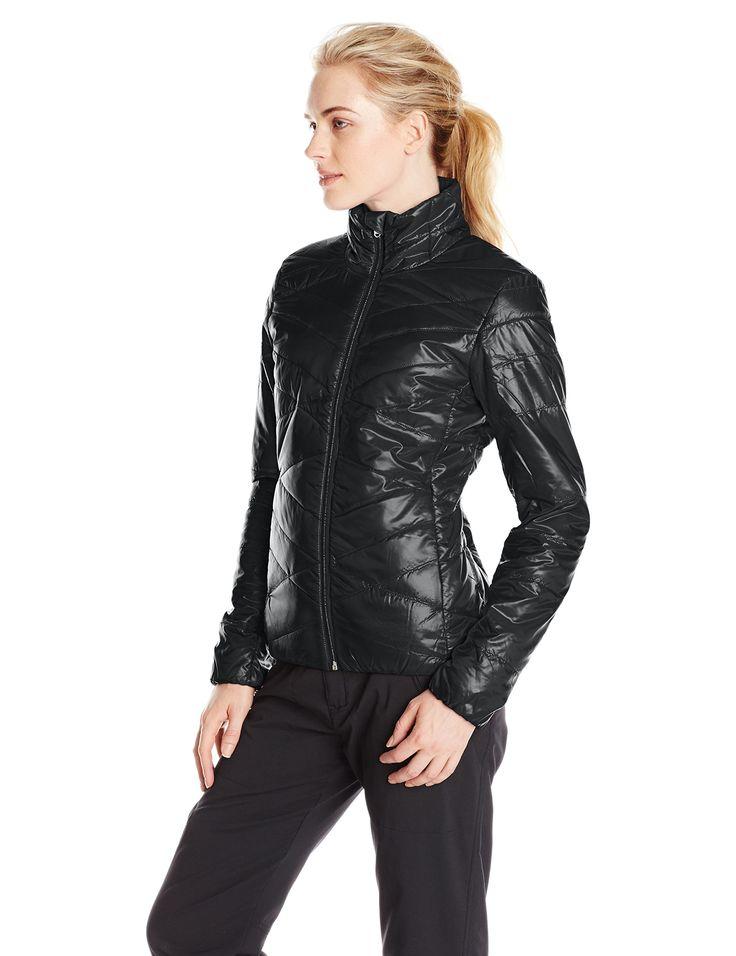 Spyder Women's Curve Jacket, Black/Silver, Small