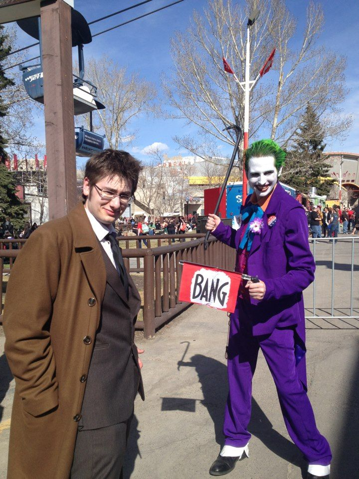 The Joker amusing the Doctor!! Calgary Fan Expo 2013.