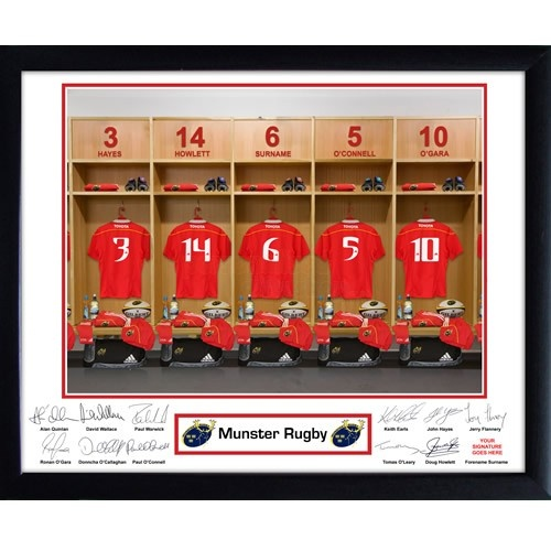 Personalised Munster Rugby Dressing Room Print  from Personalised Gifts Shop - ONLY £29.95