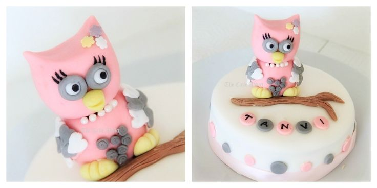 How to make fondant OWL  	   	The steps are so simple that even kids can make this owl… :-)...