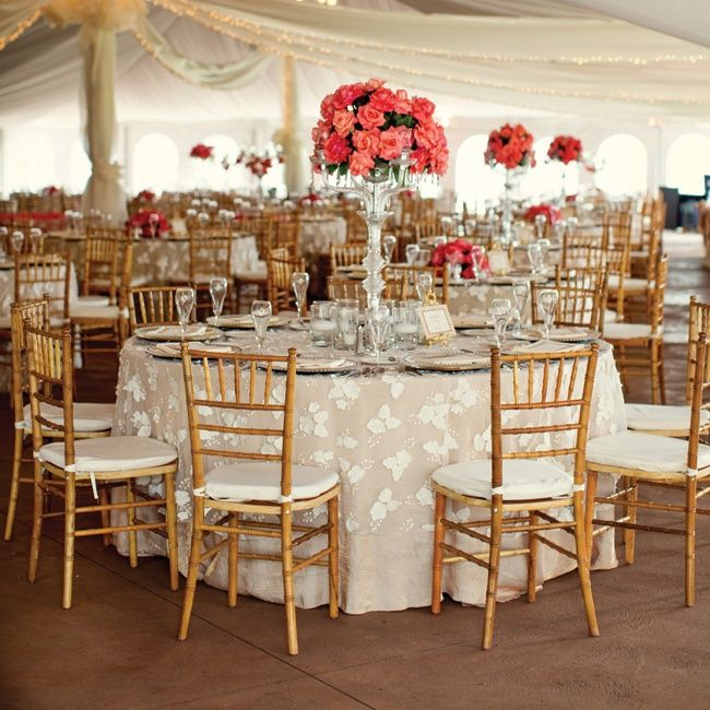 Coral And Ivory Reception Decor Stackwood Studios Theknot