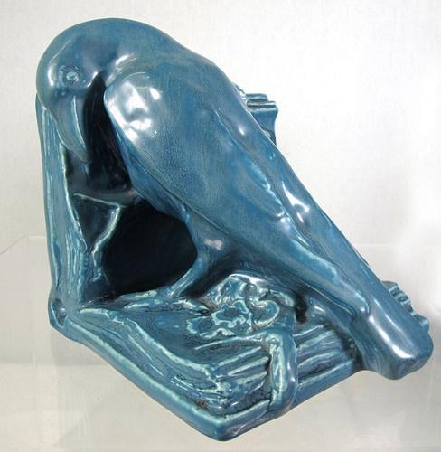 Antique Rookwood Pottery Edgar Allen Poe Raven Pair Bookends Signed XIX 2274 Yqz | eBay
