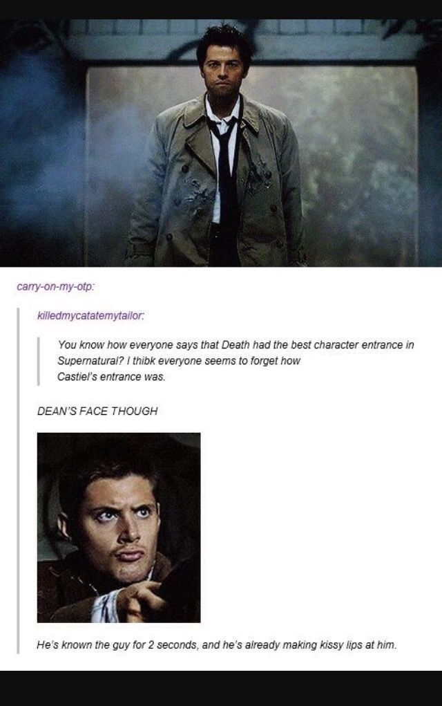 Idk guys I think you forgot that Dean is shooting at him