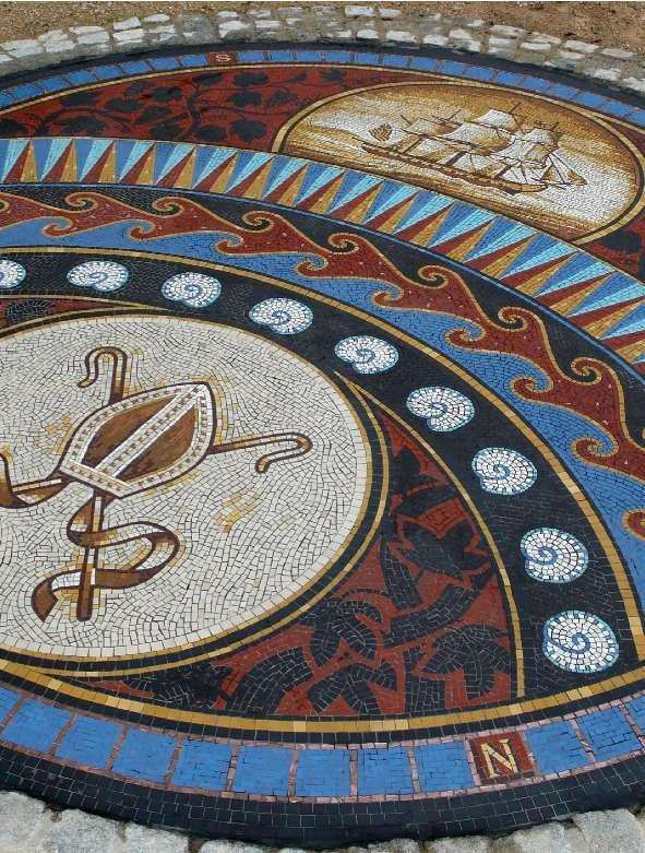 Bishops Walk Mosaic, Valentines Park, Ilford, Essex by mosaic artist Gary Drostle©2008