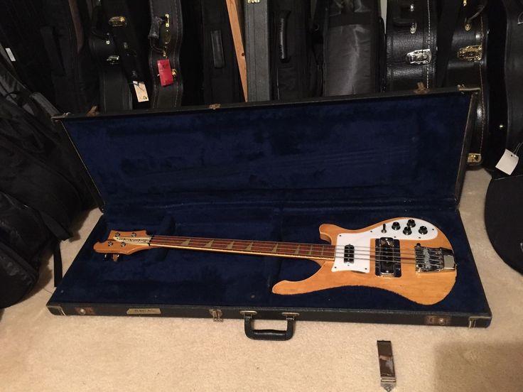 Vintage 1979 Rickenbacker 4001 Mapleglo Bass with original hardshell case  NR!