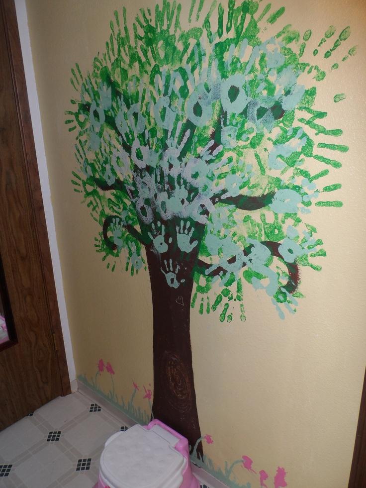Handprint wall decor