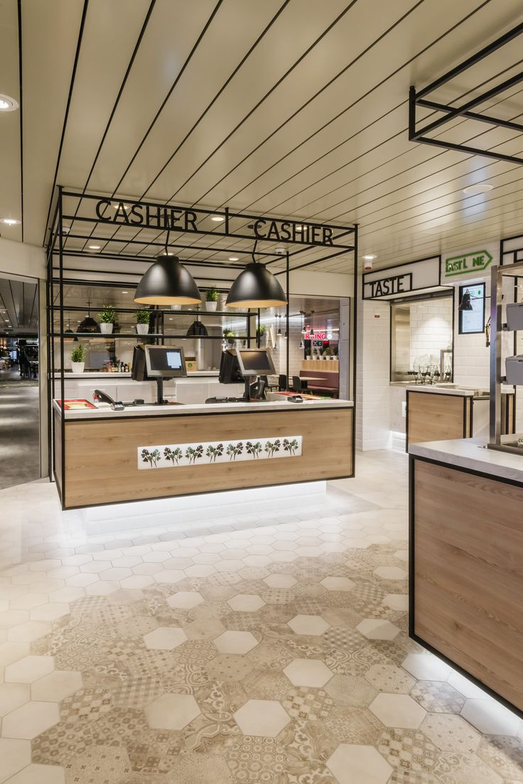 Cashier at Tallink megastar, restaurant design