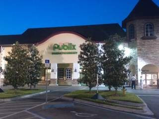 Cute photo of my local Publix where someone bought the winning Powerball ticket.  Taken early this morning. Oddly beautiful.