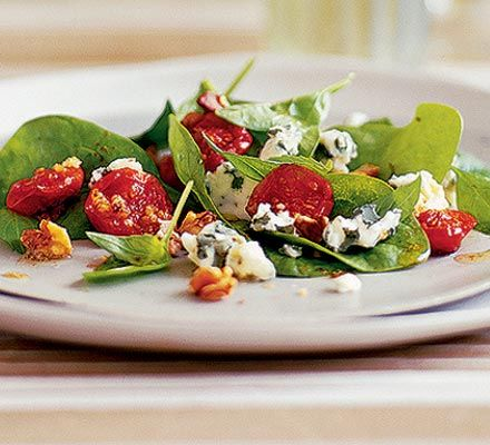 A classic warm south-western French salad with bacon, walnuts and Roquefort