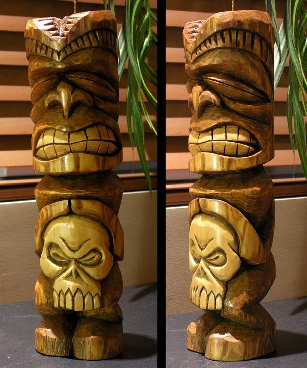Wooden Tiki Head Drawing 371 best images about ...