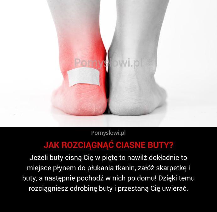 Jeżeli buty cisną Cię w piętę to nawilż dokładnie to miejsce płynem do płukania tkanin, załóż skarpetkę i buty, a ...