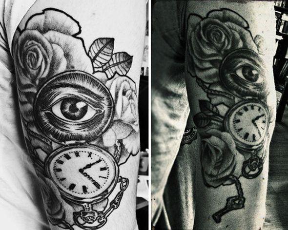 Tatouage hand in glove romain pareja tattou e pinterest photo tableau tatouages et id e - Dessin tatouage homme ...