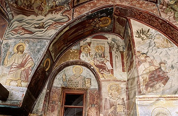Frescoes. Monastery of St John the Theologian. Patmos Island, Greece