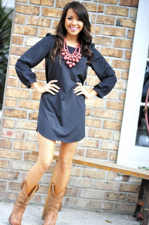 Simple Fashioned For Living Peplum Top Outfit With Cowboy Boots