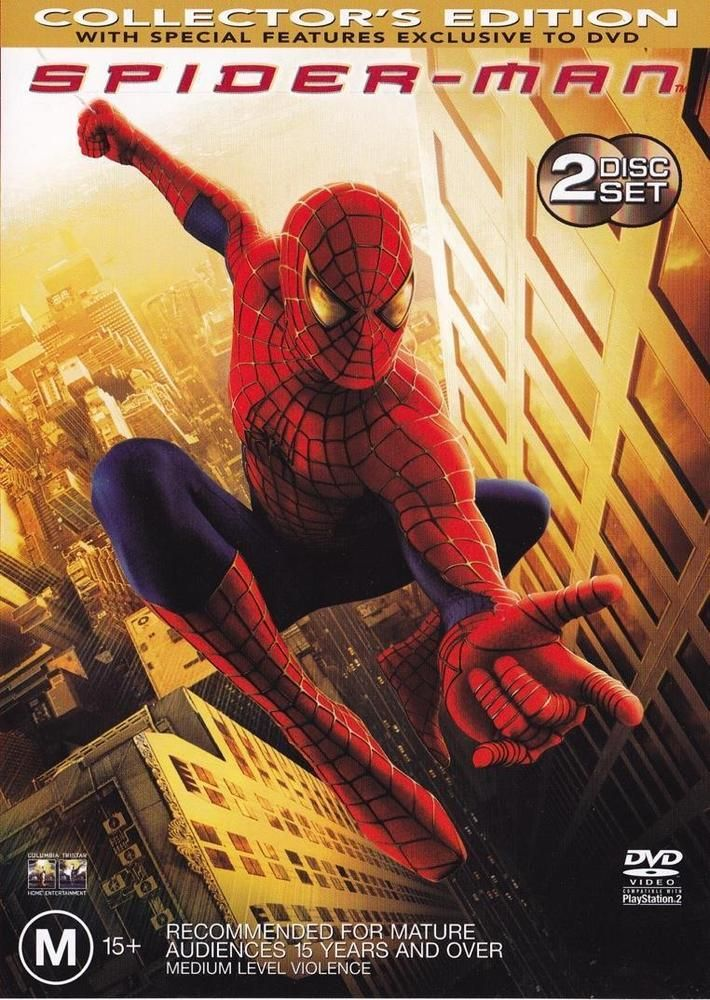 Discounted: Spider-Man (DVD, 2002, 2-Disc Collector's Edition) AS NEW Spiderman Marvel #Spiderman #Marvel #Movies