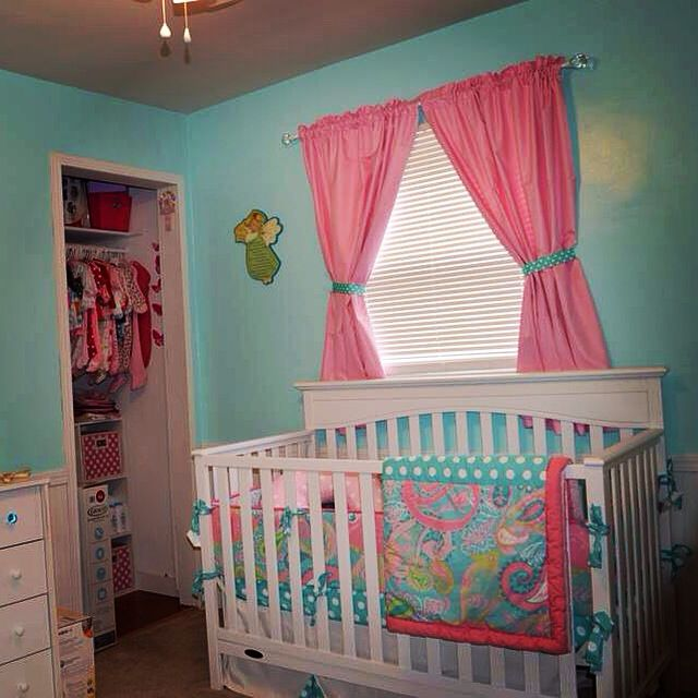 Pink And Aqua Nursery My Baby Sam Pixie In