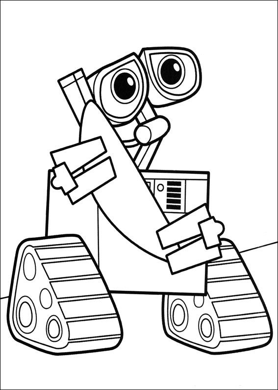 Wall e online coloring pages printable coloring book for kids 32