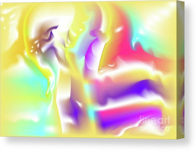 Flamboyant Canvas Print featuring the digital art Nescius by Ron Labryzz