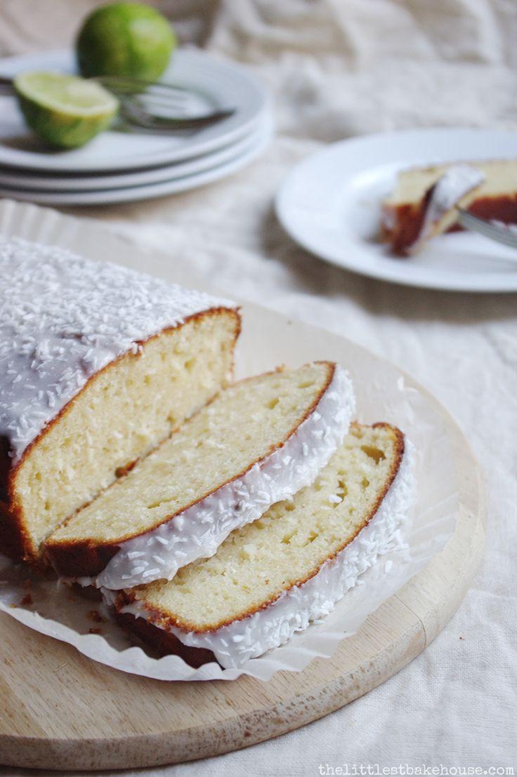 Lime & coconut yoghurt cake // The Littlest Bakehouse