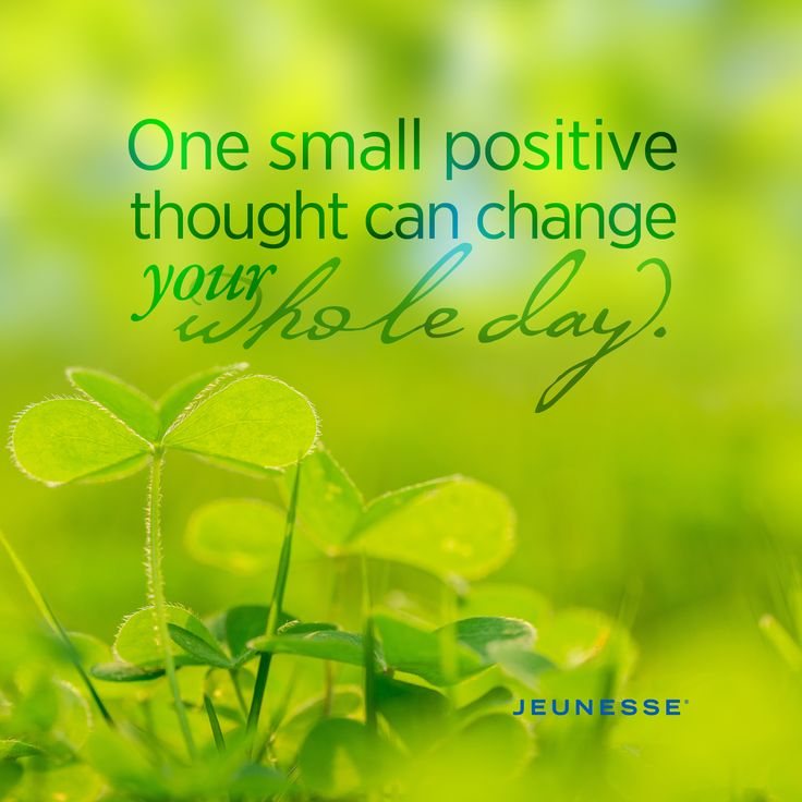 One small positive thought can change your whole day. -Unknown
