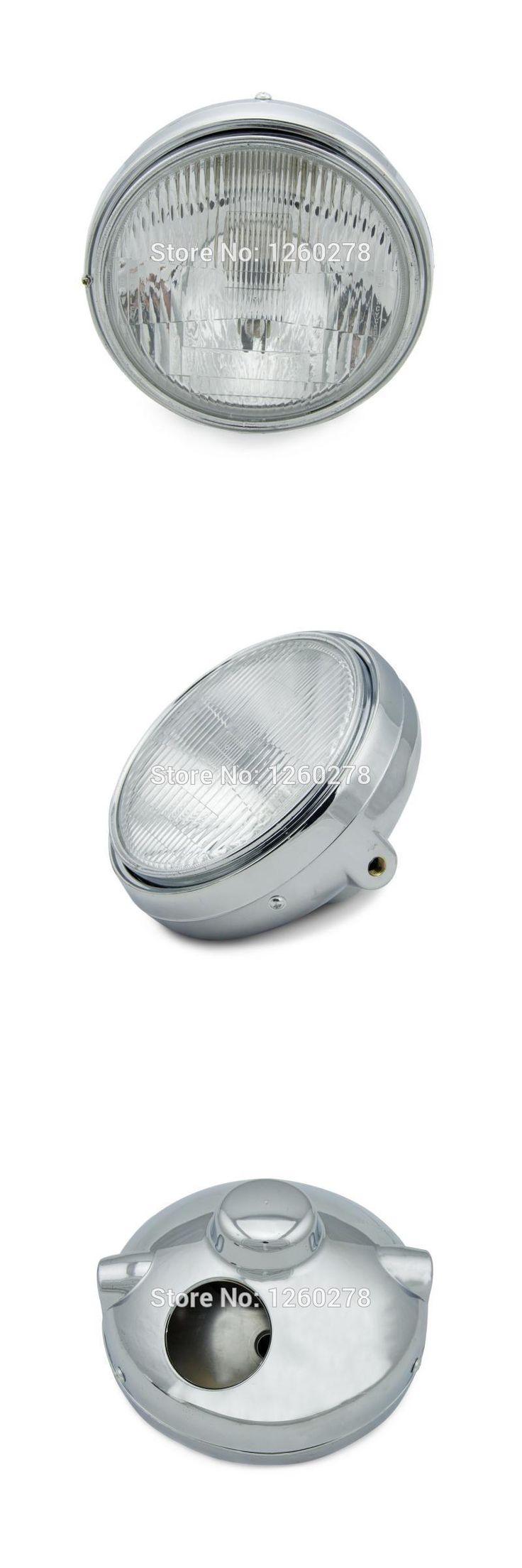 [Visit to Buy] Chrome Halogen Headlight Lamp For Honda CB400 CB500 CB1300 Hornet 250 600 900 VTEC / VTR 250 Clear Lens Head Light #Advertisement