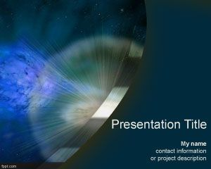 Supernova PowerPoint template is a space presentation background for PowerPoint