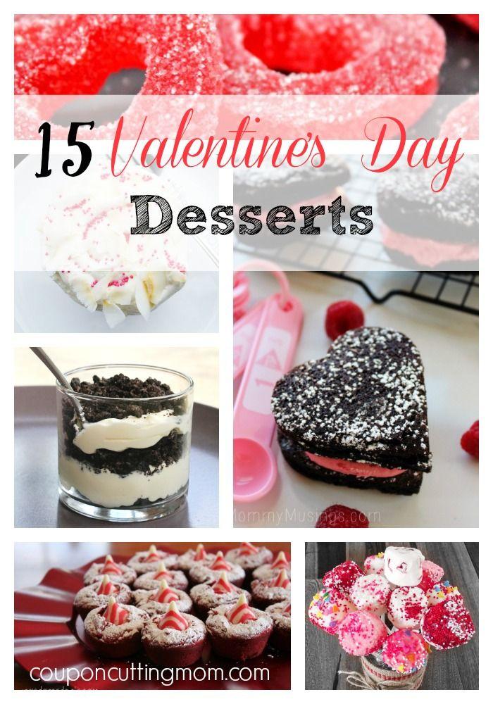 15 Valentine's Day Desserts! desserts valentinesday vday recipes holidays treats hearts