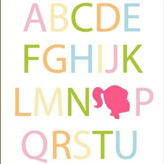 Free Printable Kids Art Alphabet with silhouetteChild Room, Silhouettes Printables, Abc Printables, Girls Bedrooms, Bedrooms Art, Big Girls Room, Alphabet Printables, Free Printables, Alphabet Art