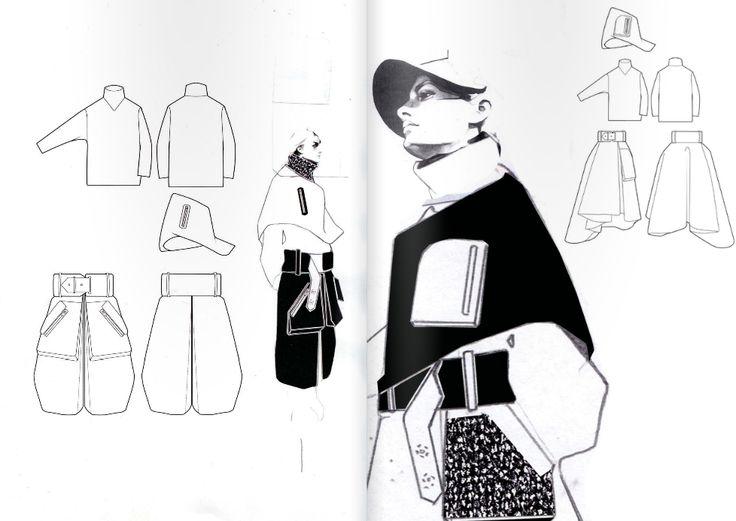 Fashion Sketchbook - fashion illustration; fashion design drawings; graduate fashion portfolio // Andrew Voss