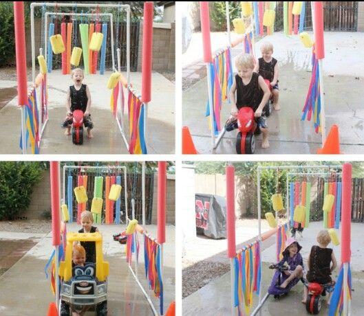 Pool Noodle Bike Wash ... Cut Strips Of Plastic