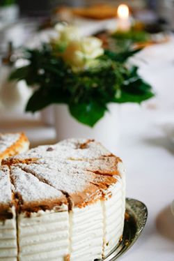 """Käsesahne Torte (Whipped Cheese Torte)  This is a specialty from Germany, especially the Southern part.  It is rather light and fluffy and often simply referred to as """"cheese cake"""" but lacks the density of American, New York style cheese cakes."""