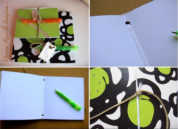 Cuadernos reciclados.